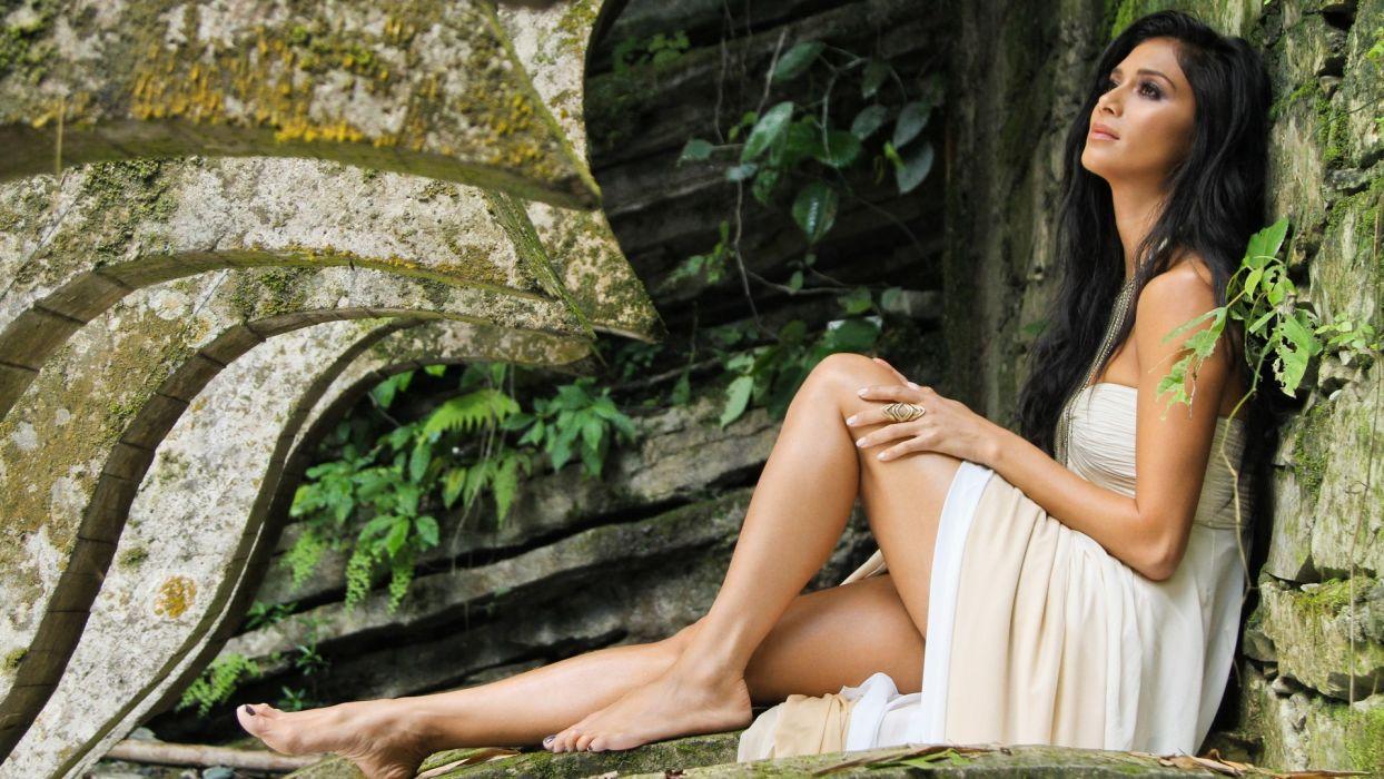brunettes women models Nicole Scherzinger wallpaper