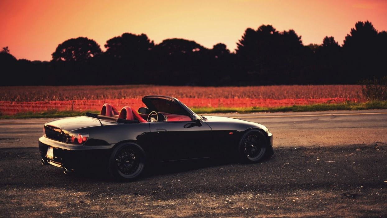 black Honda cars roads vehicles Honda S2000 wallpaper