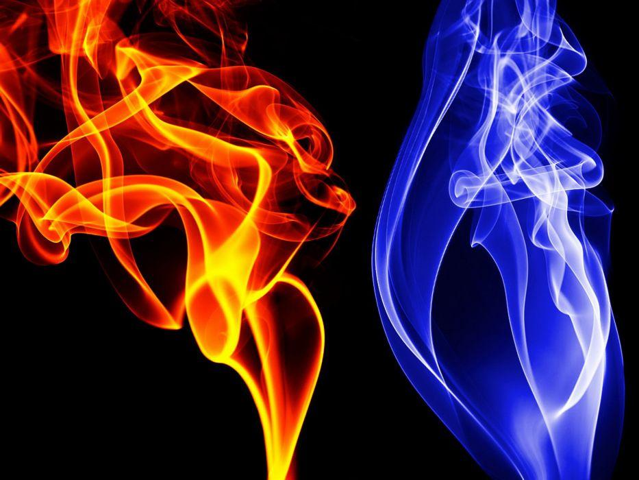 abstract flames black dark digital art wallpaper
