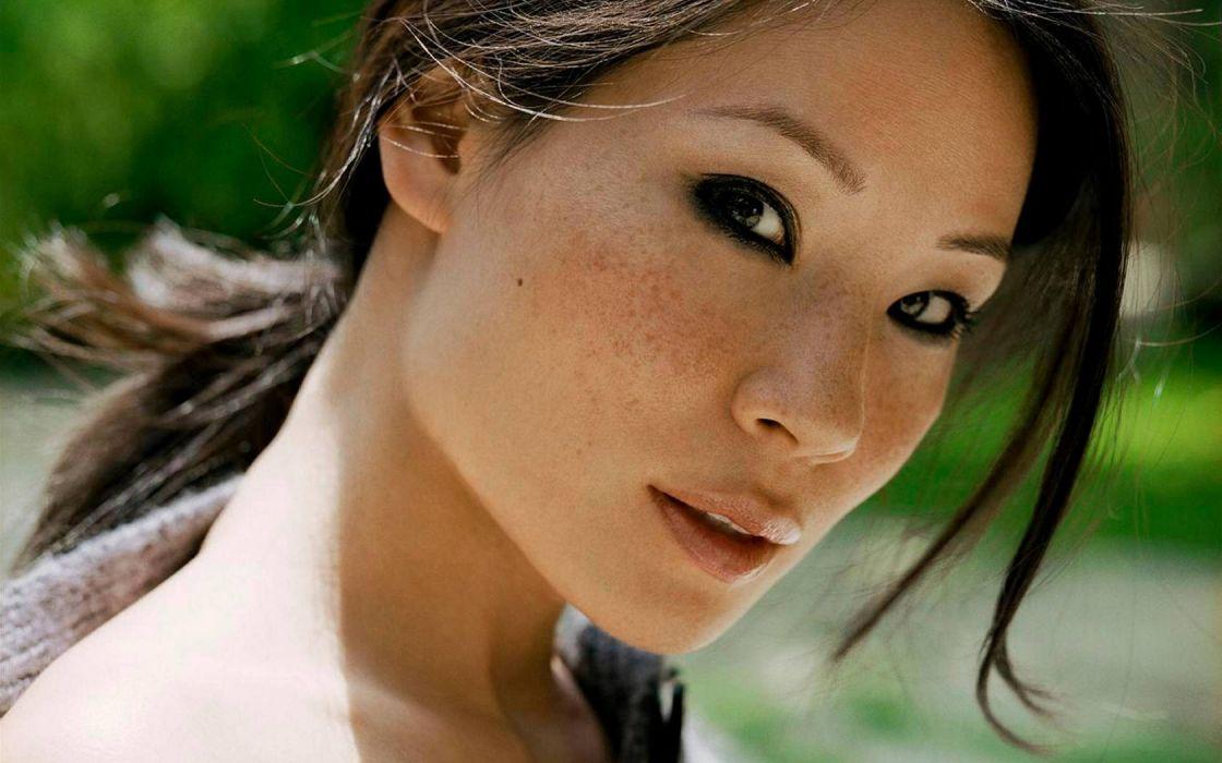 women actress celebrity Lucy Liu Asians wallpaper