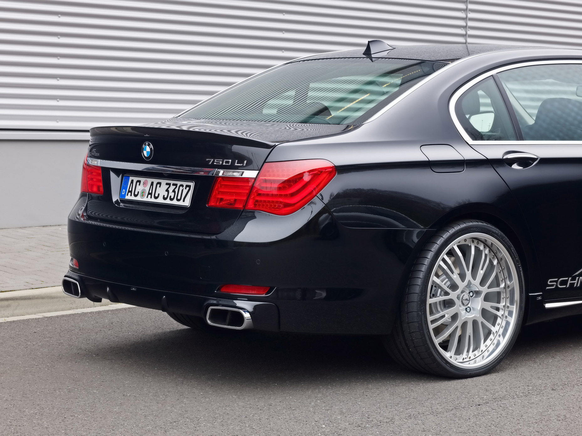 BMW Cars 7 Series 750Li AC Schnitzer Type VII Racing Rear Angle View Wallpaper