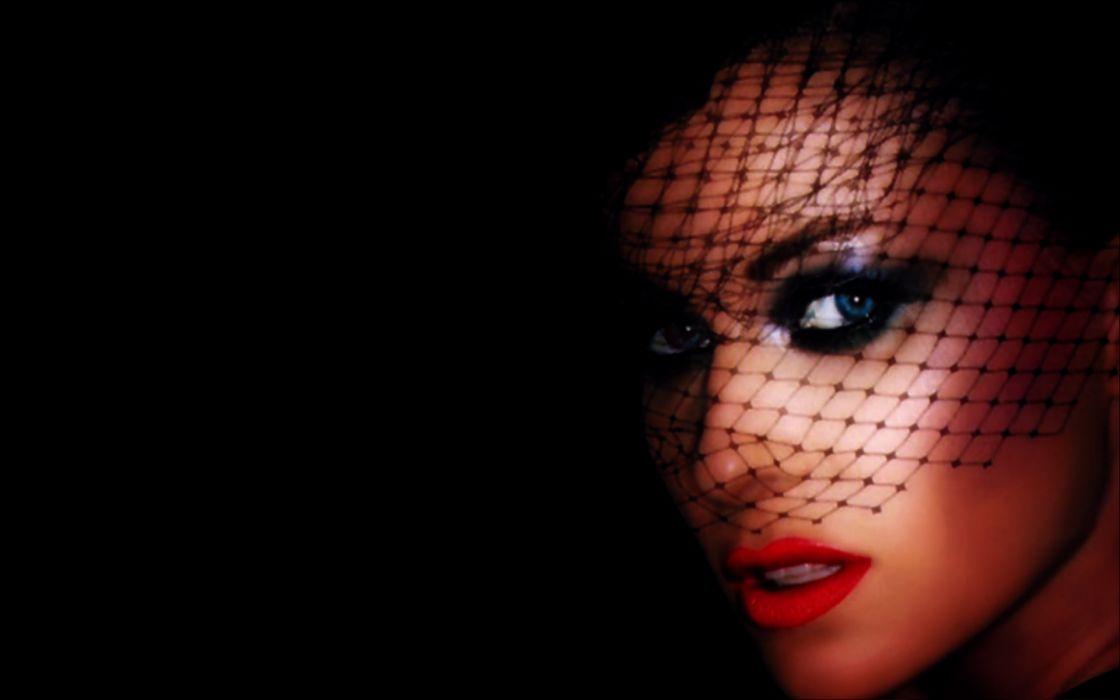 women veil red lips lipstick wallpaper