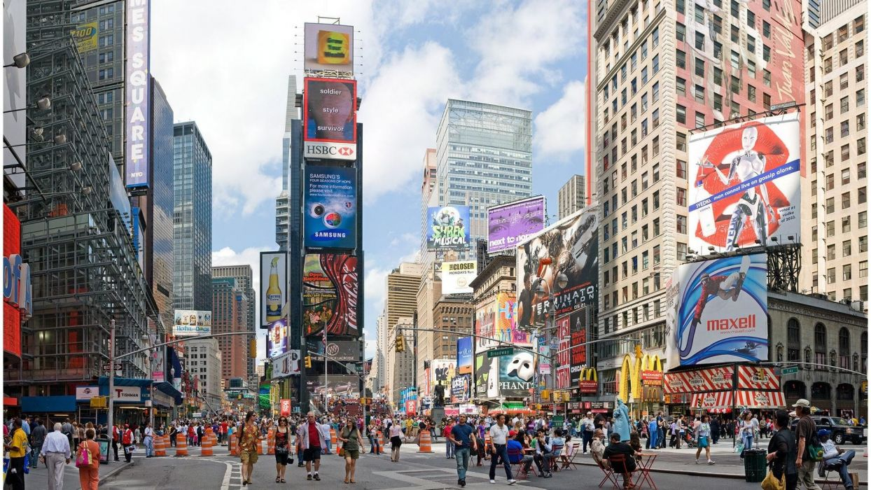 cityscapes New York City Times Square wallpaper