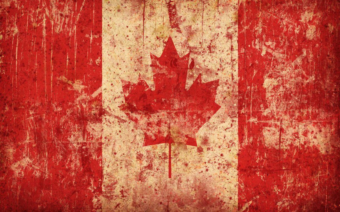 grunge Canada flags maple leaf Canadian flag wallpaper