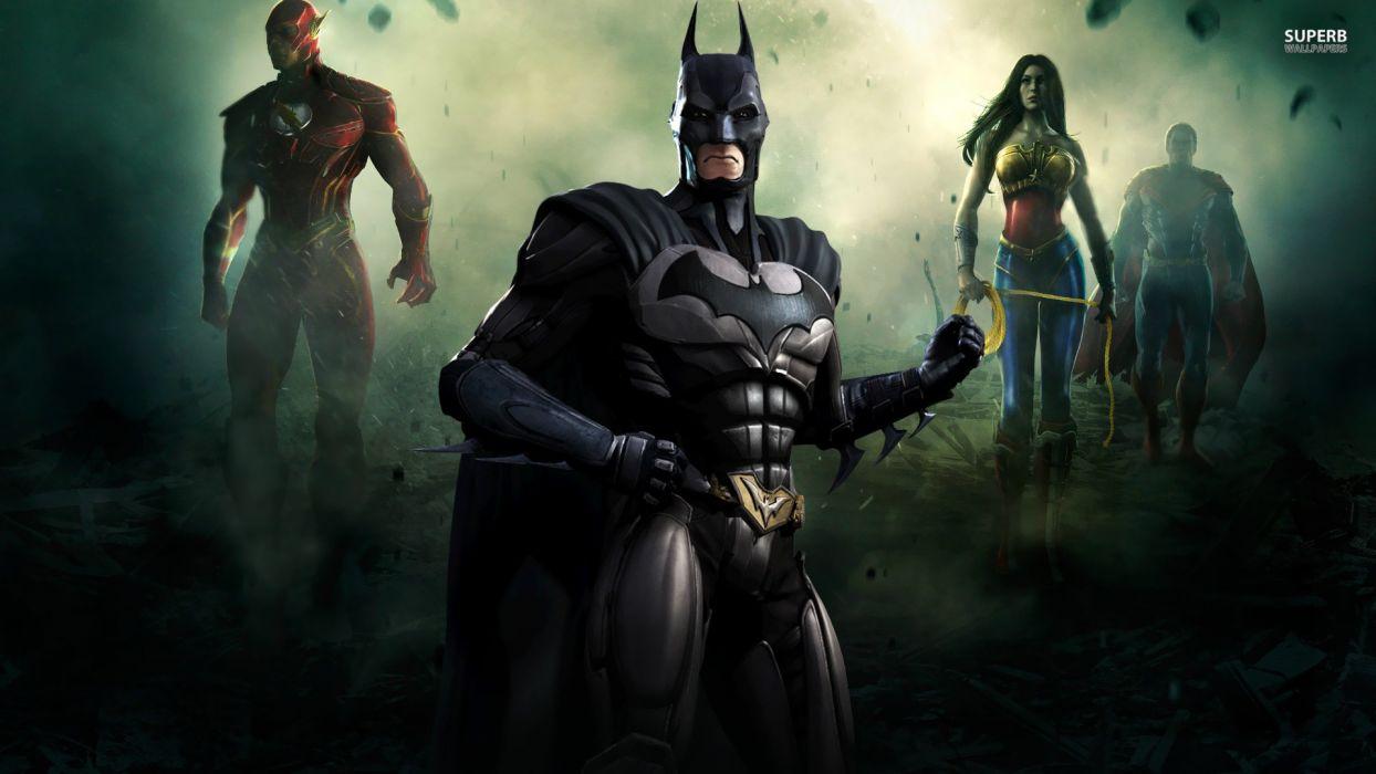 Batman Video Games Superman Posters Gods Lightning Bolt Wonder Woman Screens Injustice Wallpaper