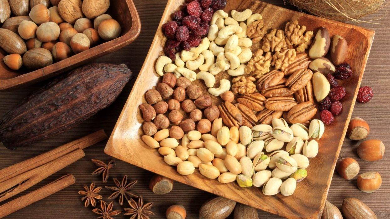 food nuts wallpaper