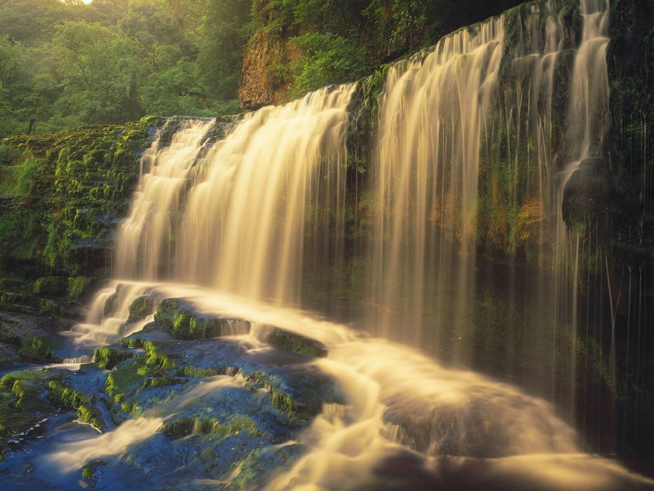 video games landscapes waterfalls wallpaper