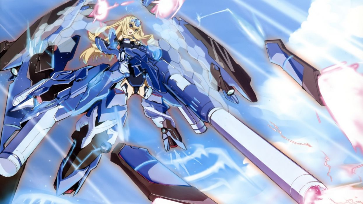 Infinite Stratos Alcott Cecilia mecha musume wallpaper