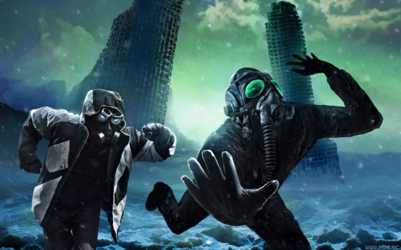 Pilot gas masks captain fantasy art masks science fiction Romantically Apocalyptic Vitaly S Alexius Zee Captein Mr_ Snippy wallpaper