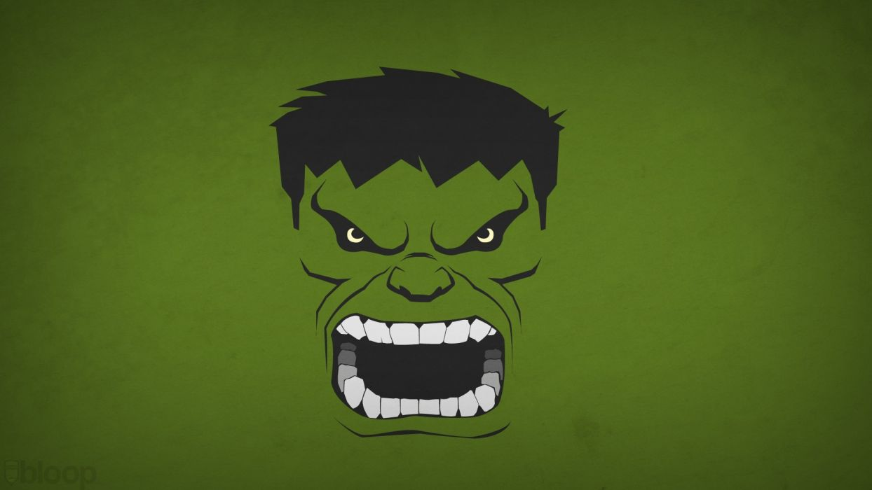 Hulk (comic character) superheroes Marvel Comics green background blo0p wallpaper