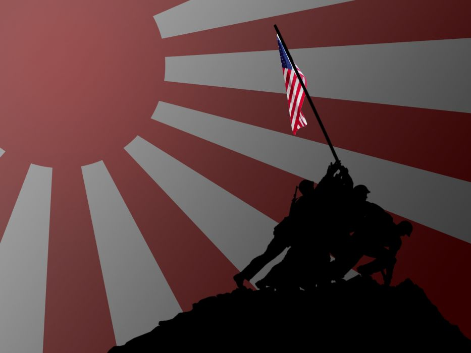 Japan flags USA USMC US Marines Corps Hi No Maru redneck wallpaper