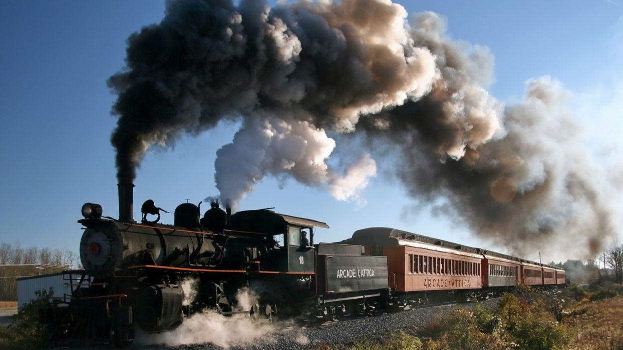 wall trains Steam train vehicles trainway wallpaper