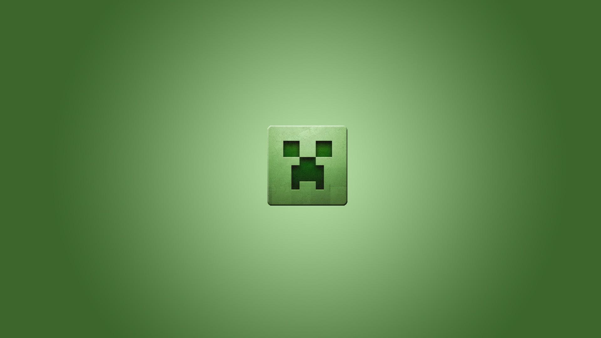 Video games minimalistic creeper Minecraft simplistic ...