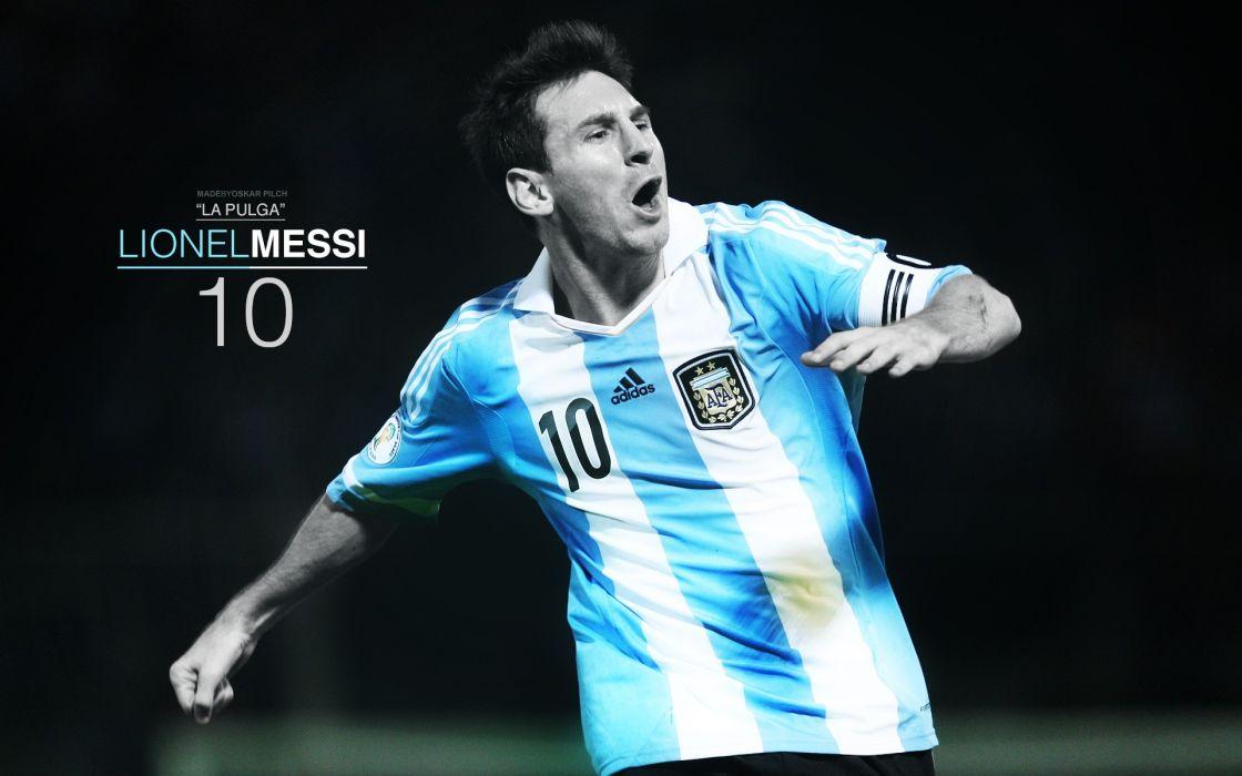 Argentina captain Lionel Messi FC Barcelona Argentina National Football Team Fc BarAIA wallpaper