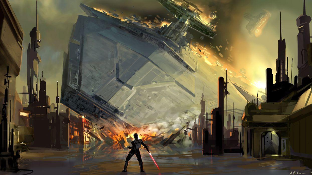 Star Wars artwork wallpaper