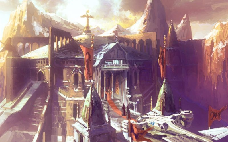 cityscapes fantasy art citadel artwork wallpaper