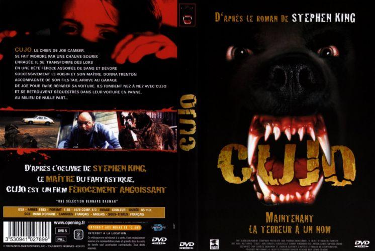 CUJO dark horror dog poster wallpaper