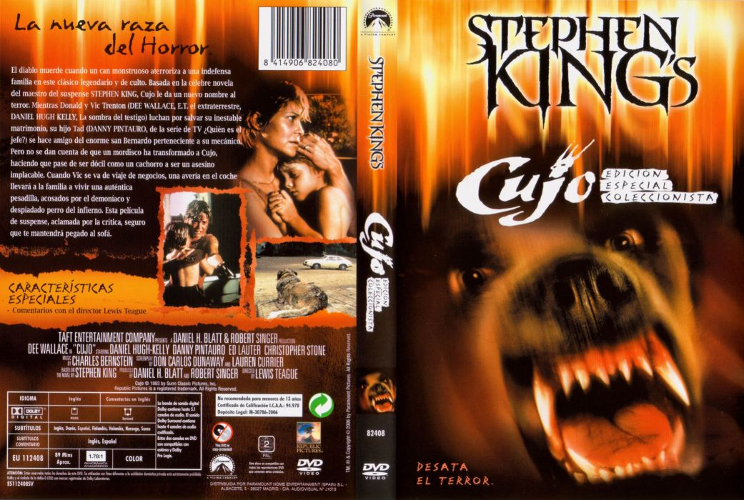 CUJO dark horror dog poster wallpaper