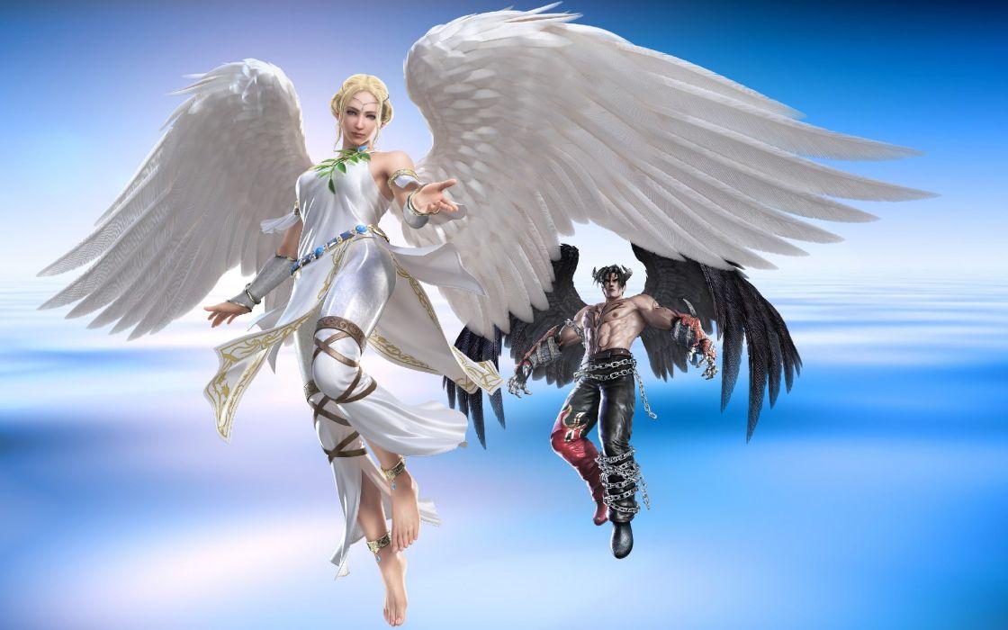 TEKKEN warrior angel demon fantasy  e wallpaper
