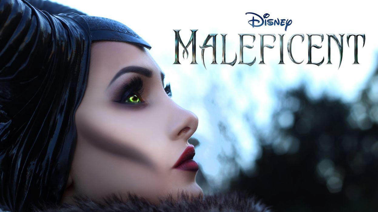 MALEFICENT fantasy disney angelina jolie poster     d wallpaper