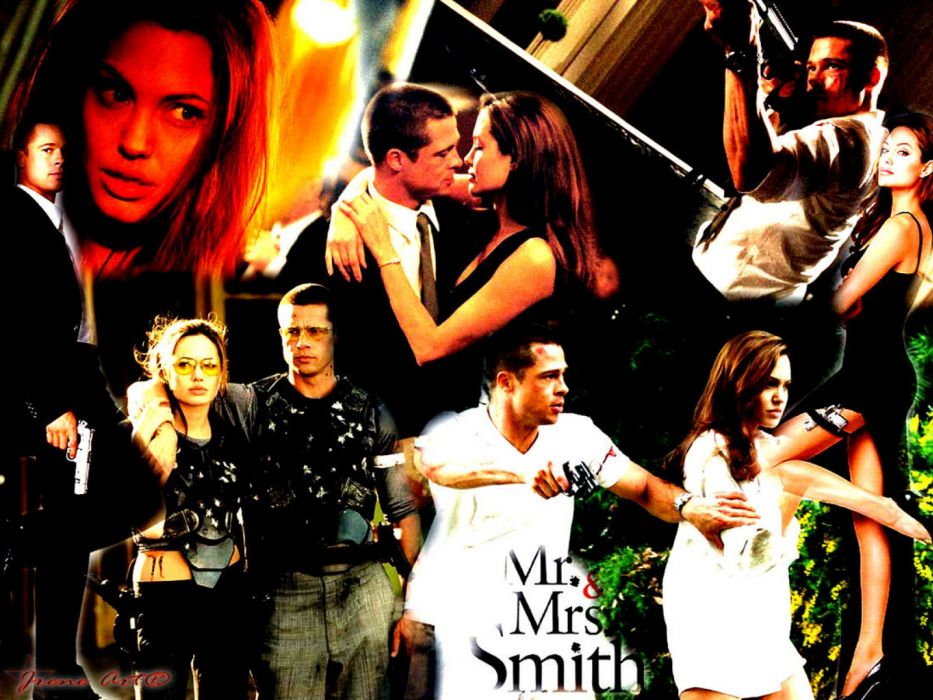 MR-AND-MRS-SMITH romantic comedy action mrs smith  es wallpaper