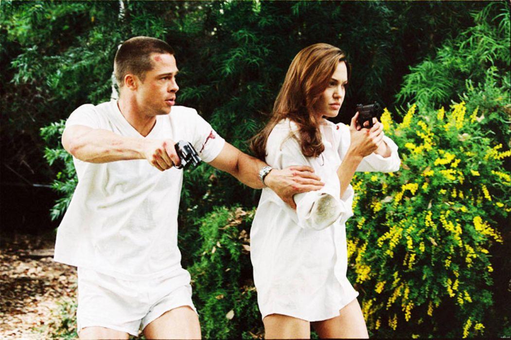 MR-AND-MRS-SMITH romantic comedy action mrs smith angelina jolie brad pitt   e wallpaper