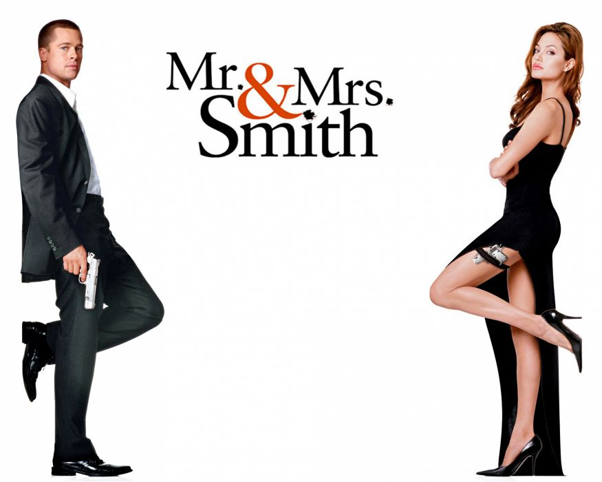 MR-AND-MRS-SMITH romantic comedy action mrs smith poster       f wallpaper