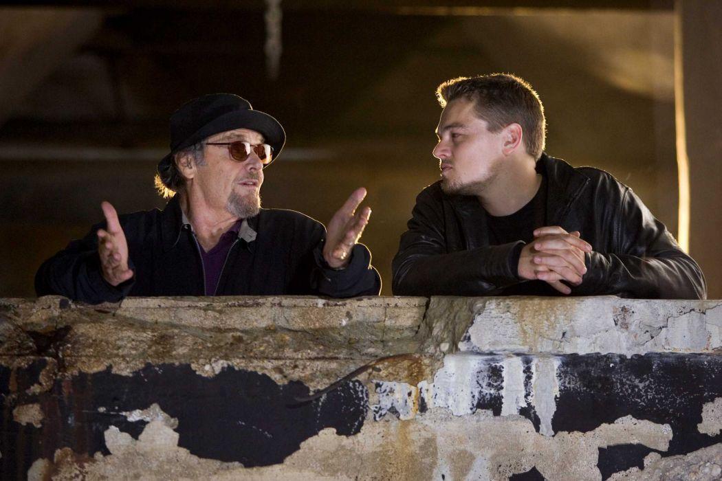 THE DEPARTED crime thriller leonardo diCaprio wallpaper