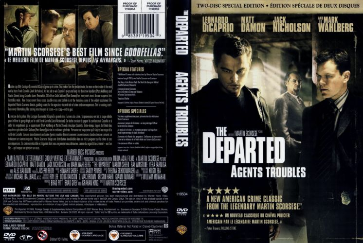 THE DEPARTED crime thriller leonardo diCaprio poster wallpaper