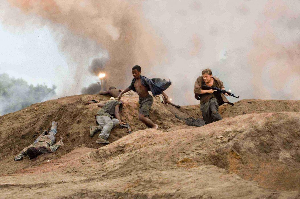 BLOOD DIAMOND political war thriller adventure drama dicaprio leonardo battle weapon gun   f wallpaper