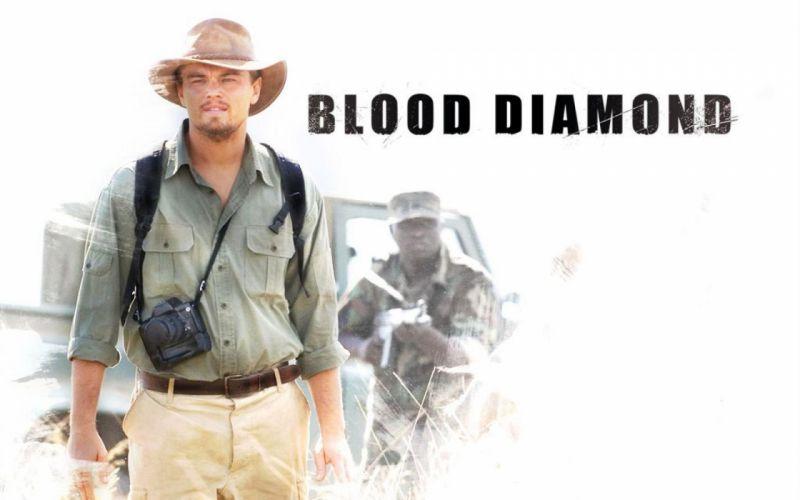 BLOOD DIAMOND political war thriller adventure drama dicaprio leonardo poster h wallpaper