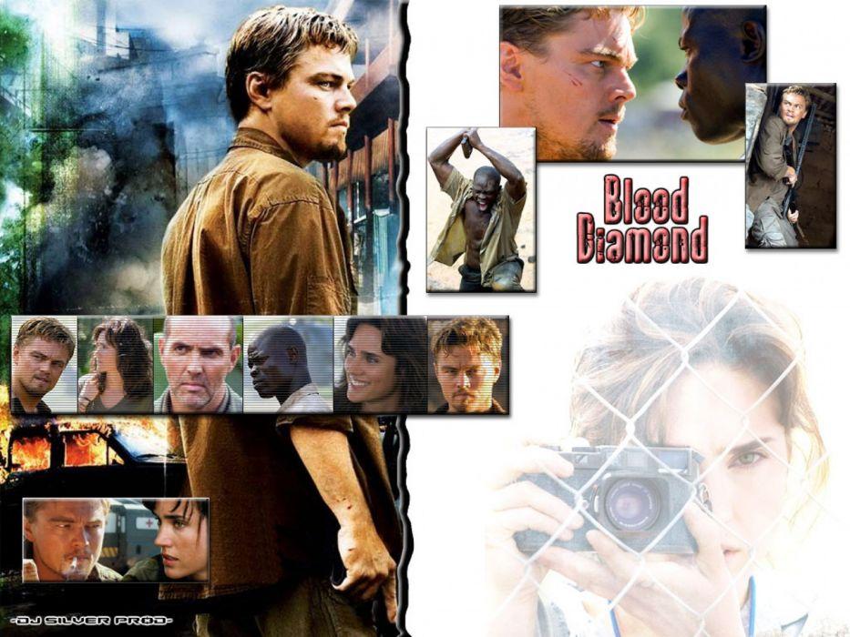 BLOOD DIAMOND political war thriller adventure drama poster v wallpaper