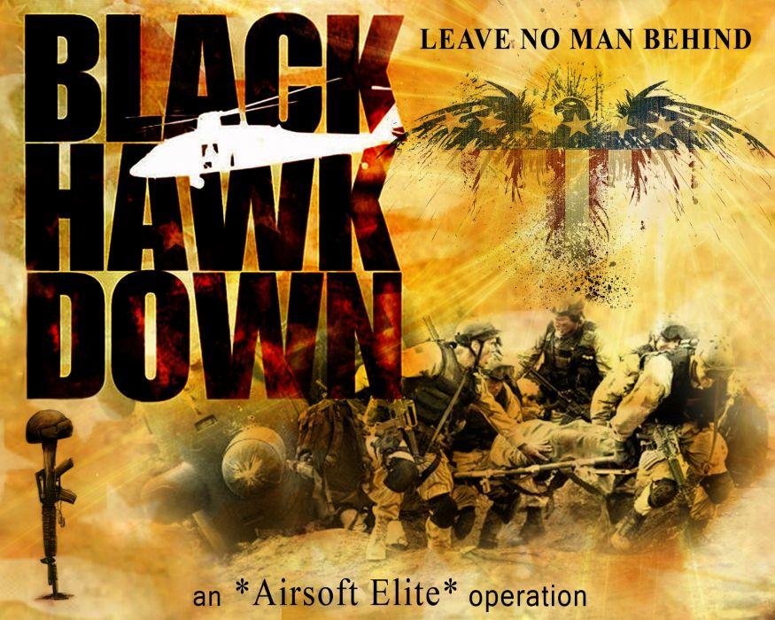 BLACK-HAWK-DOWN drama history war action black hawk down military poster  h wallpaper