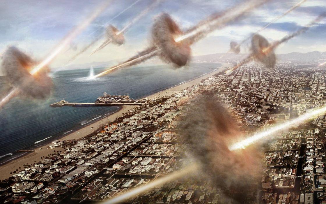 BATTLE LOS ANGELES action sci-fi drama apocalyptic city f wallpaper