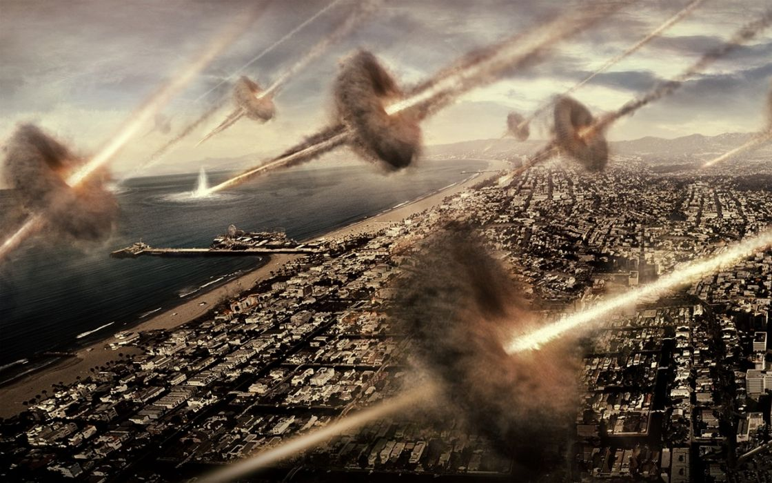 BATTLE LOS ANGELES action sci-fi drama apocalyptic city   d wallpaper