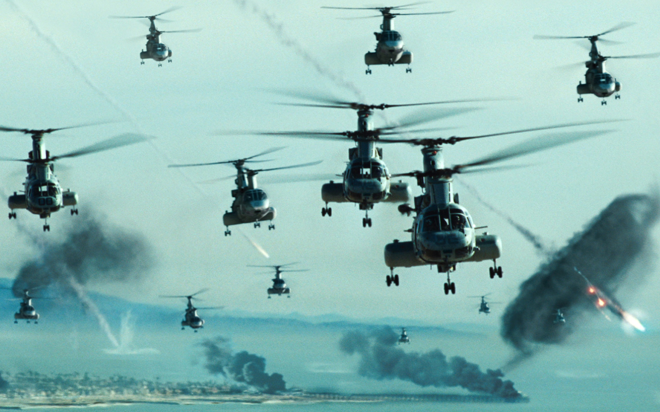 War Helicopters In Action