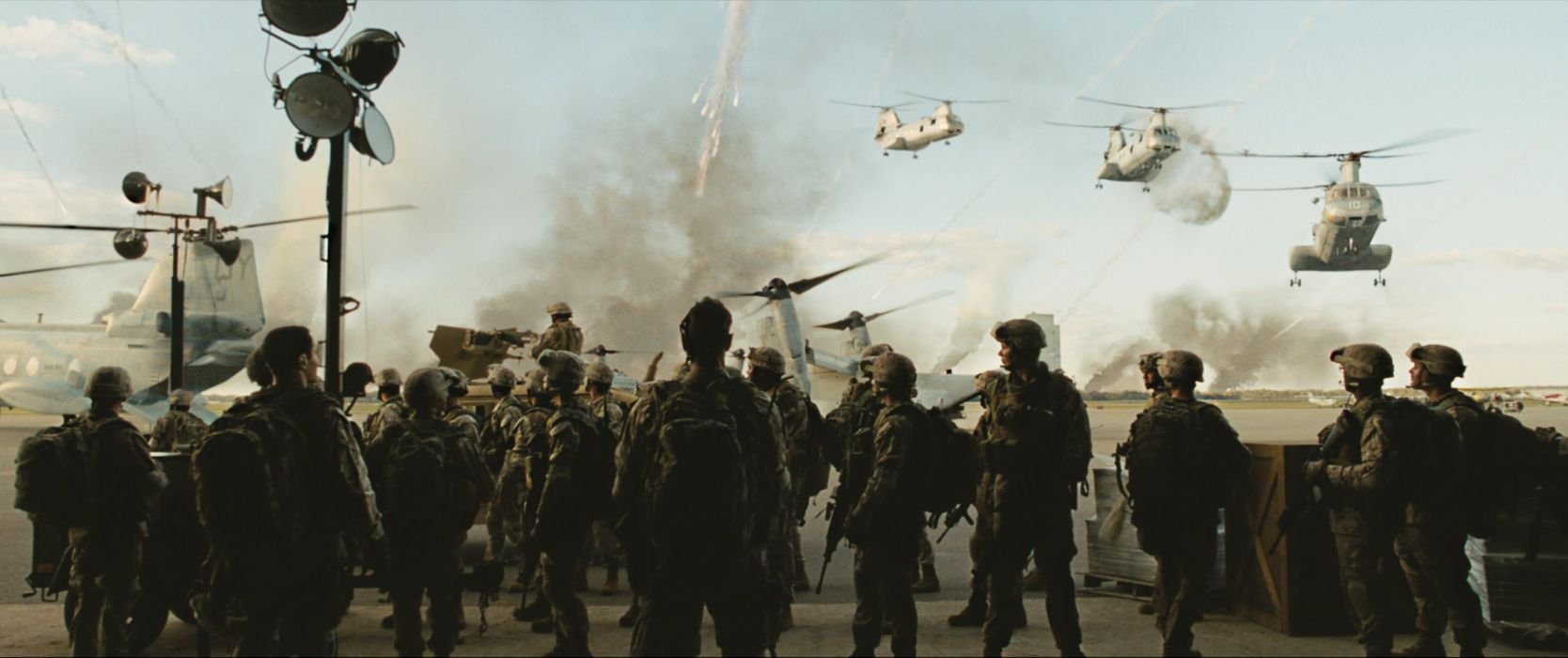 BATTLE LOS ANGELES action sci-fi drama military helicopter soldier     d wallpaper