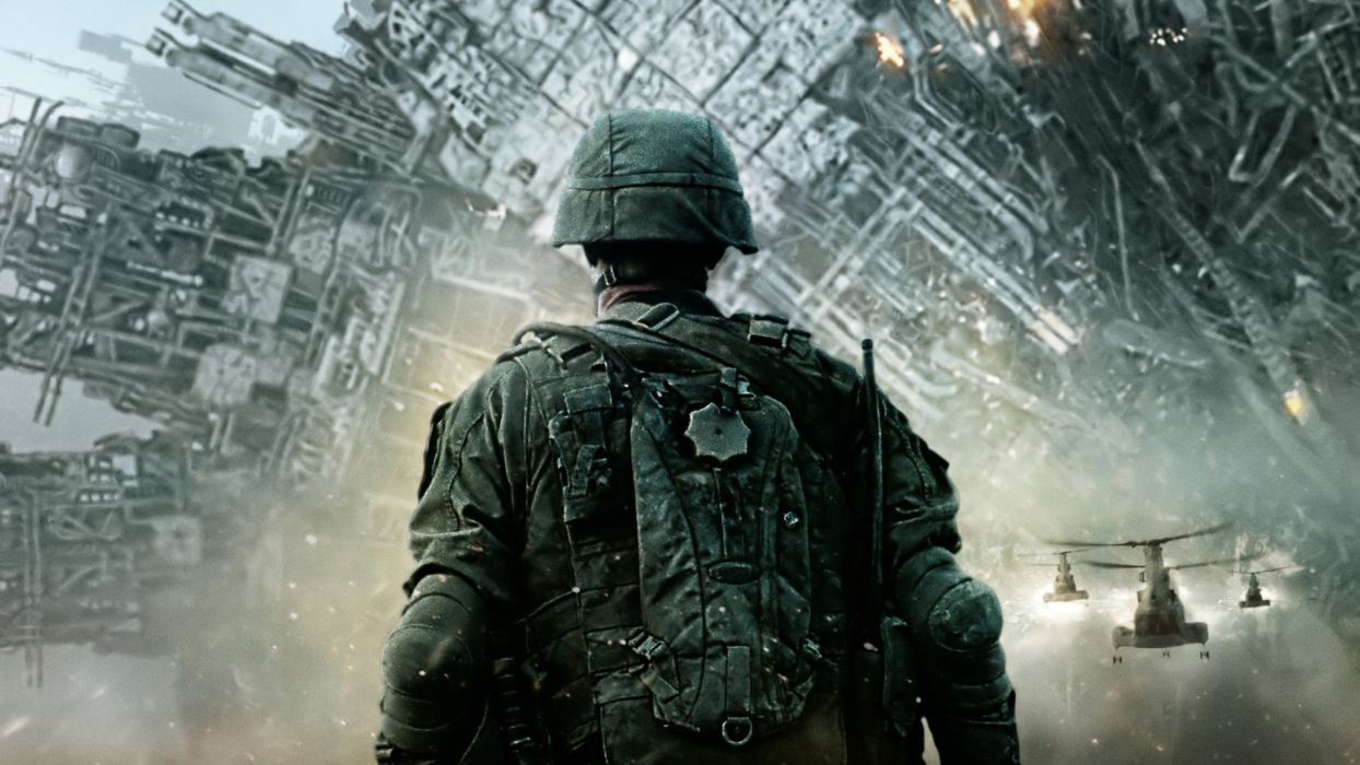 BATTLE LOS ANGELES action sci-fi drama military helicopter soldier    h wallpaper