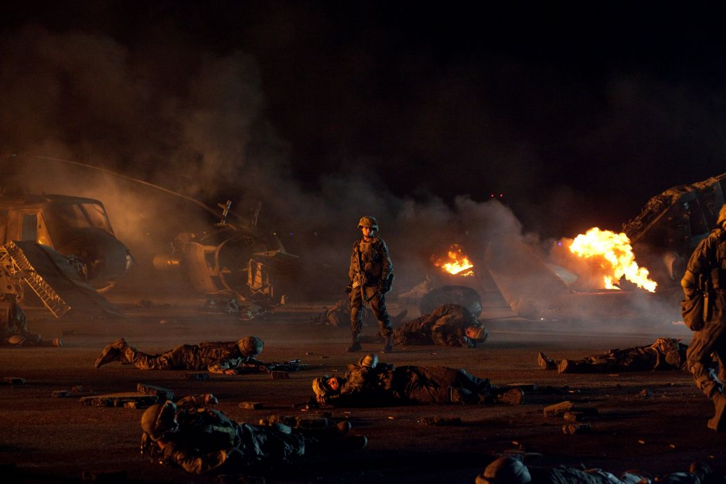 BATTLE LOS ANGELES action sci-fi drama military soldier f wallpaper