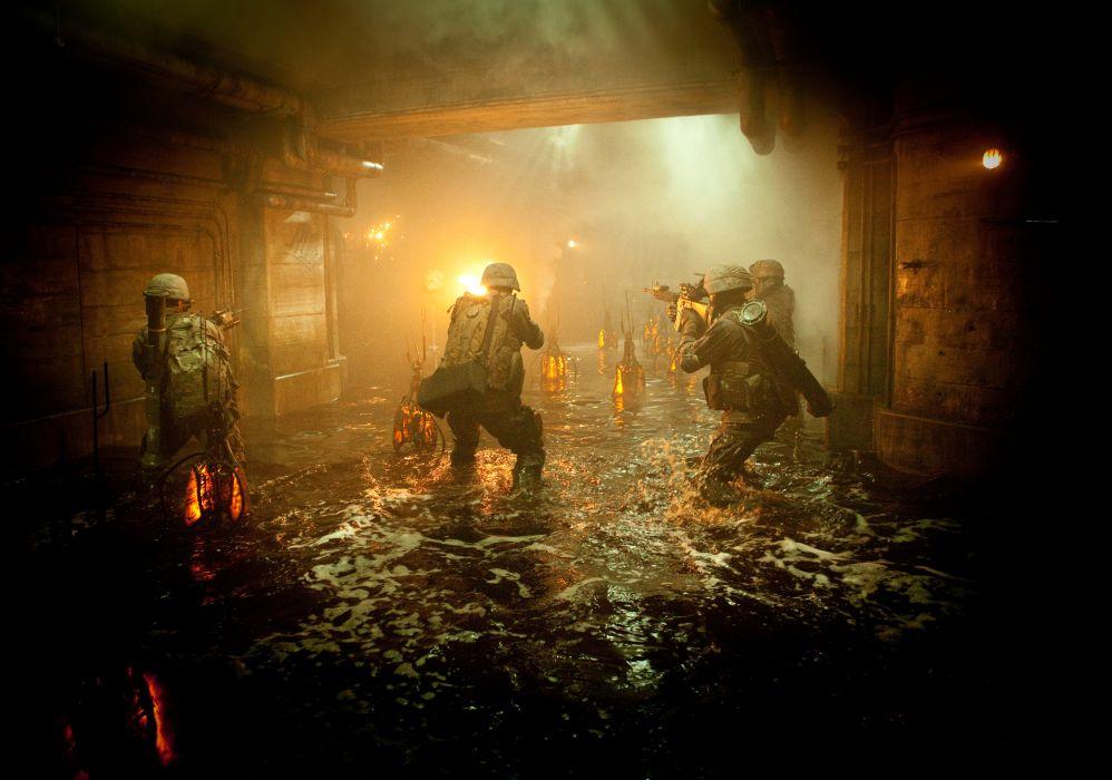 BATTLE LOS ANGELES action sci-fi drama military soldier weapon gun alien    f wallpaper