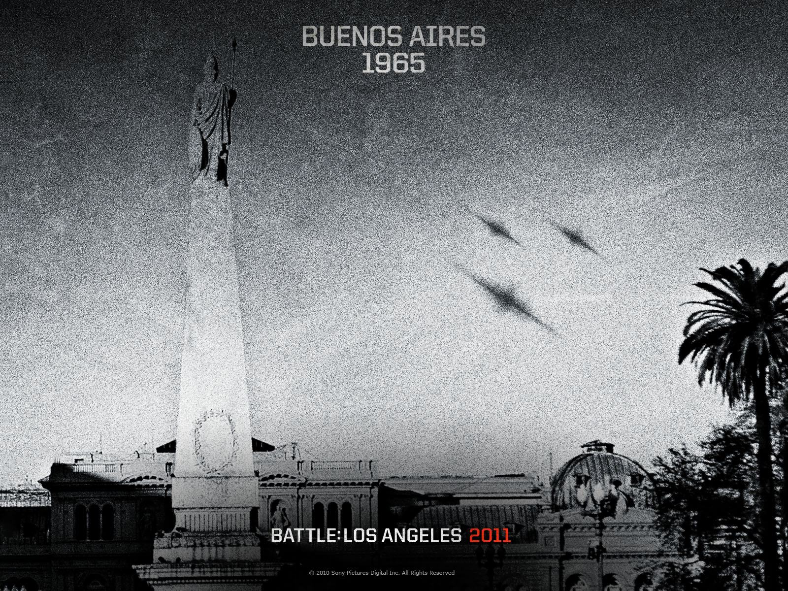BATTLE LOS ANGELES Action Scifi Drama Poster F Wallpaper - Los angeles poster black and white