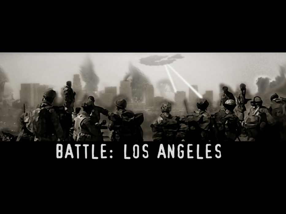 BATTLE LOS ANGELES action sci-fi drama poster apocalyptic   s wallpaper