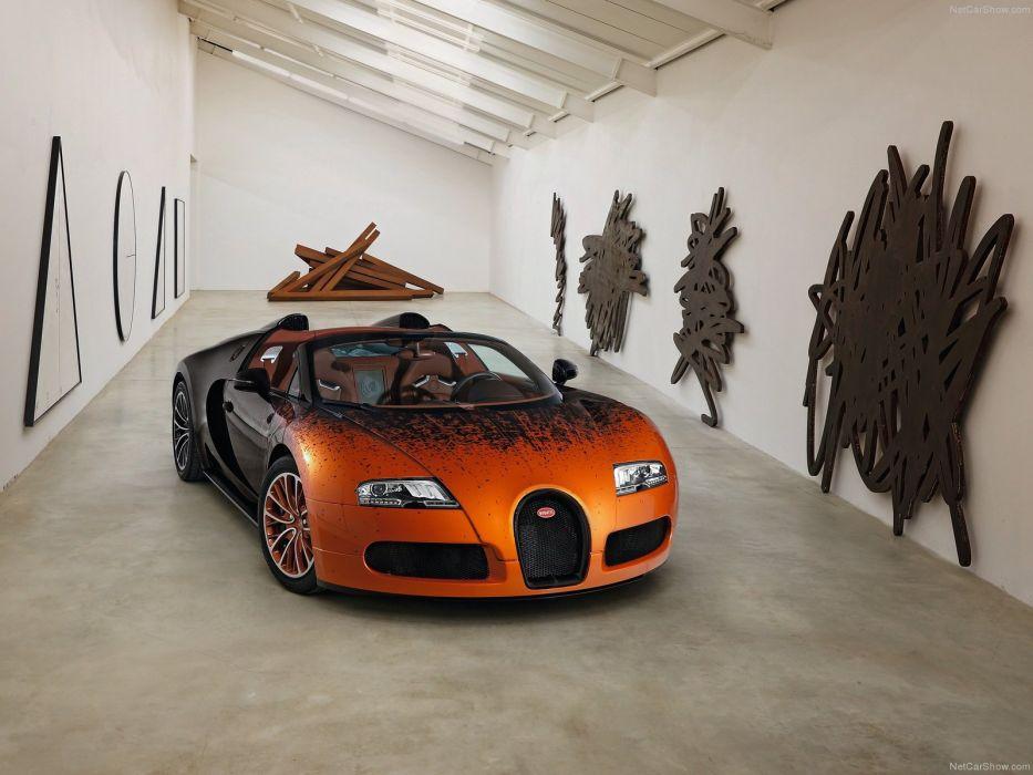 Bugatti Veyron Grand Sport Bernar Venet 2012 wallpaper
