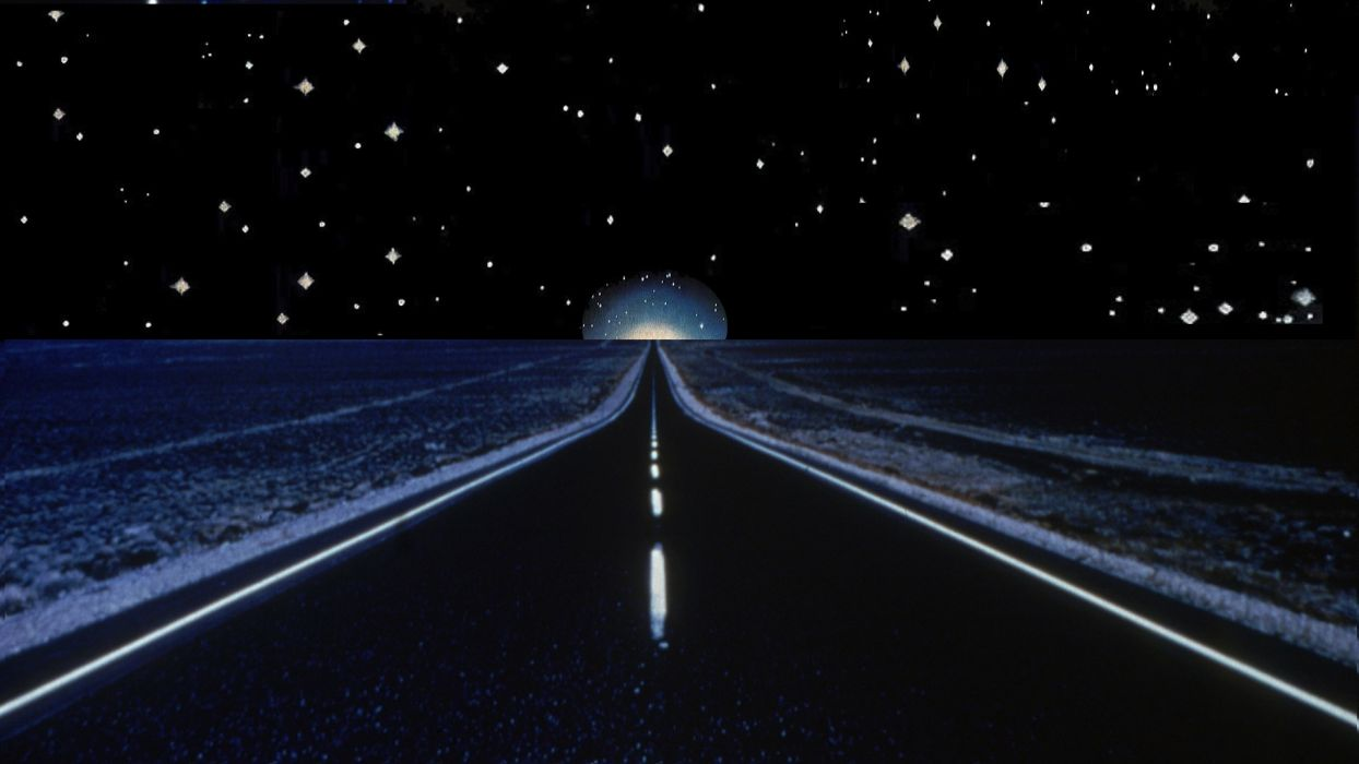 CLOSE ENCOUNTERS OF THE THIRD KIND sci-fi drama thriller road stars sky night poster f wallpaper