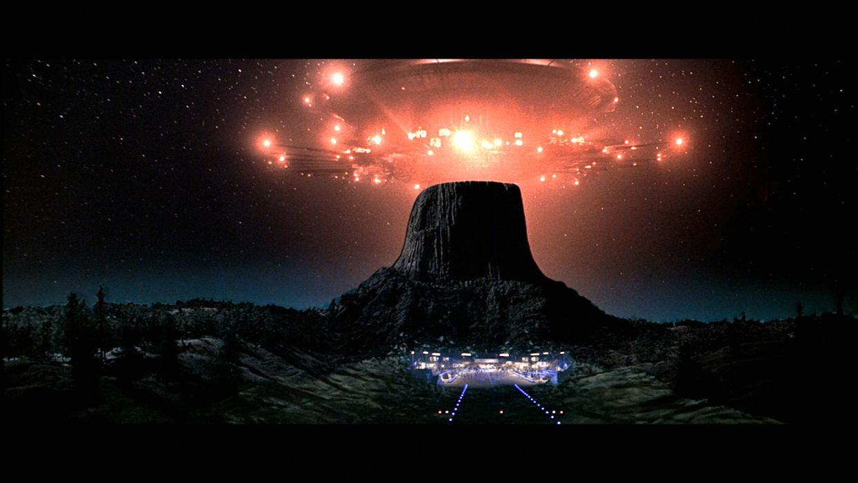 CLOSE ENCOUNTERS OF THE THIRD KIND sci-fi drama thriller spaceship  fs wallpaper
