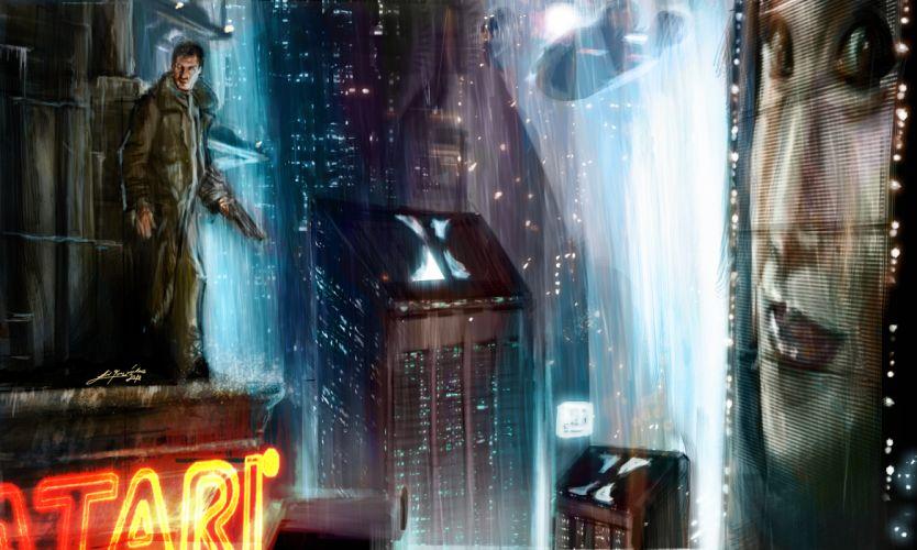 BLADE RUNNER drama sci-Fi thriller action city jf wallpaper