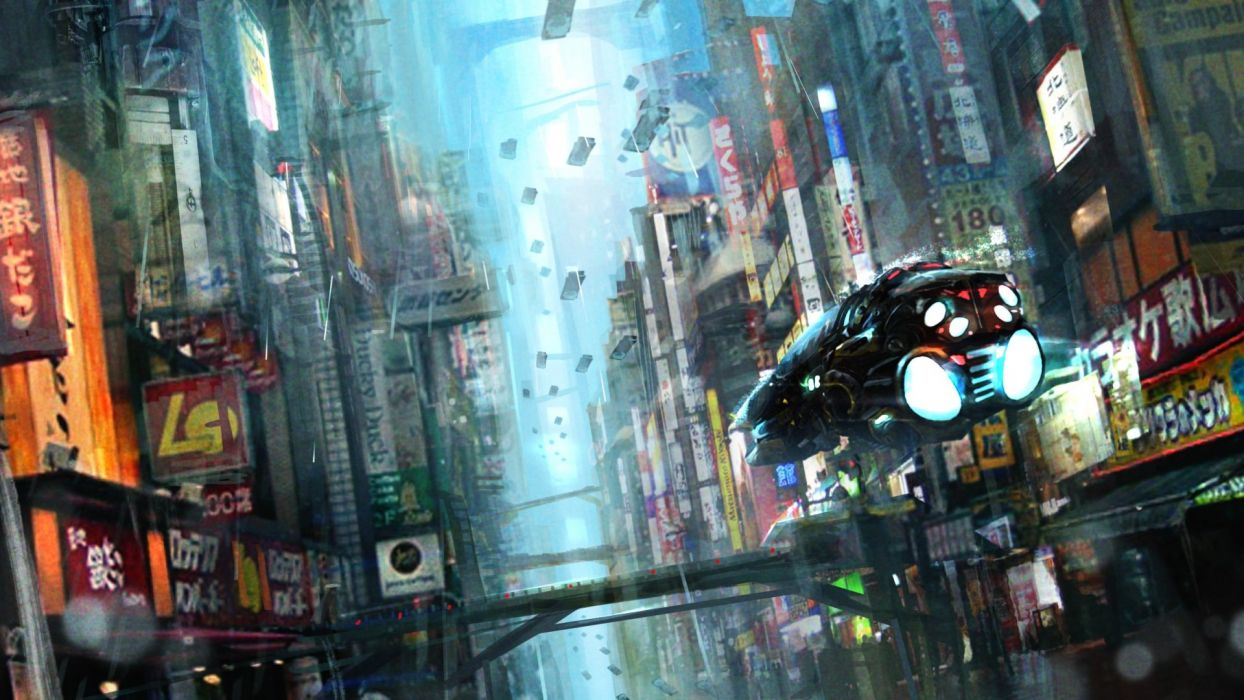 BLADE RUNNER drama sci-Fi thriller action city spaceship  gs wallpaper