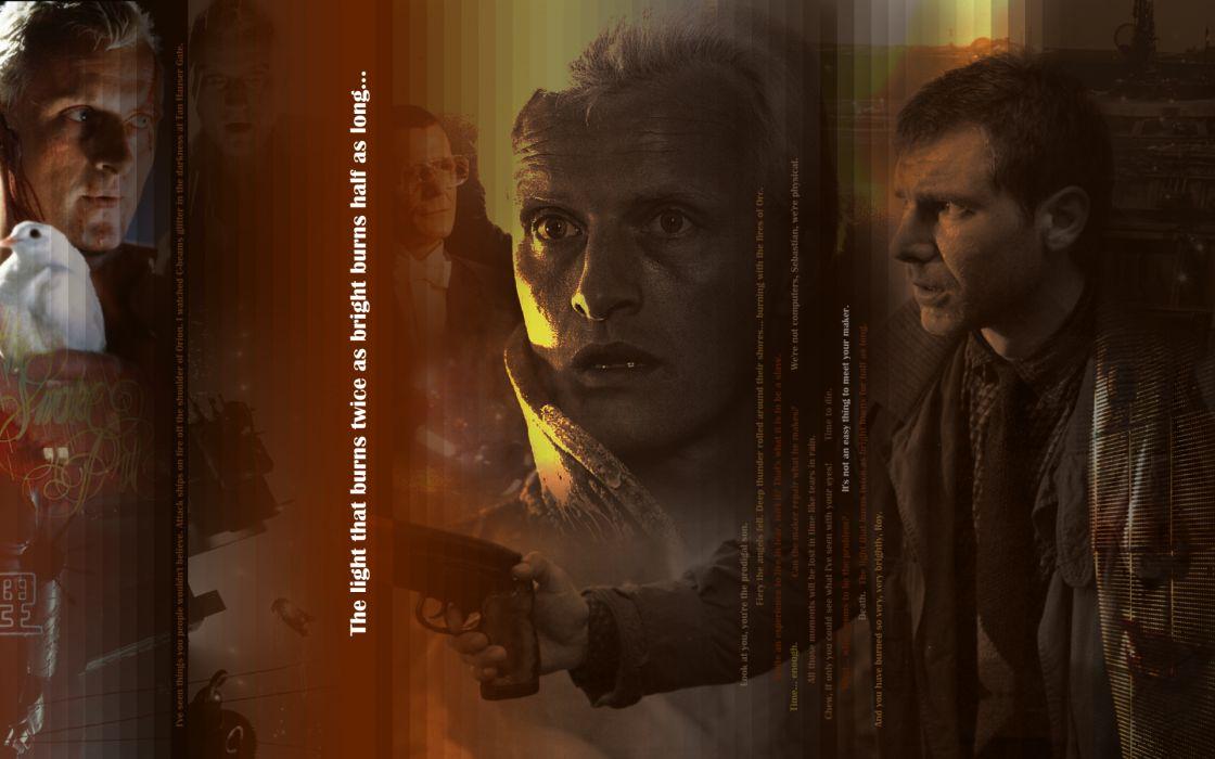 BLADE RUNNER drama sci-Fi thriller action poster mood     f wallpaper