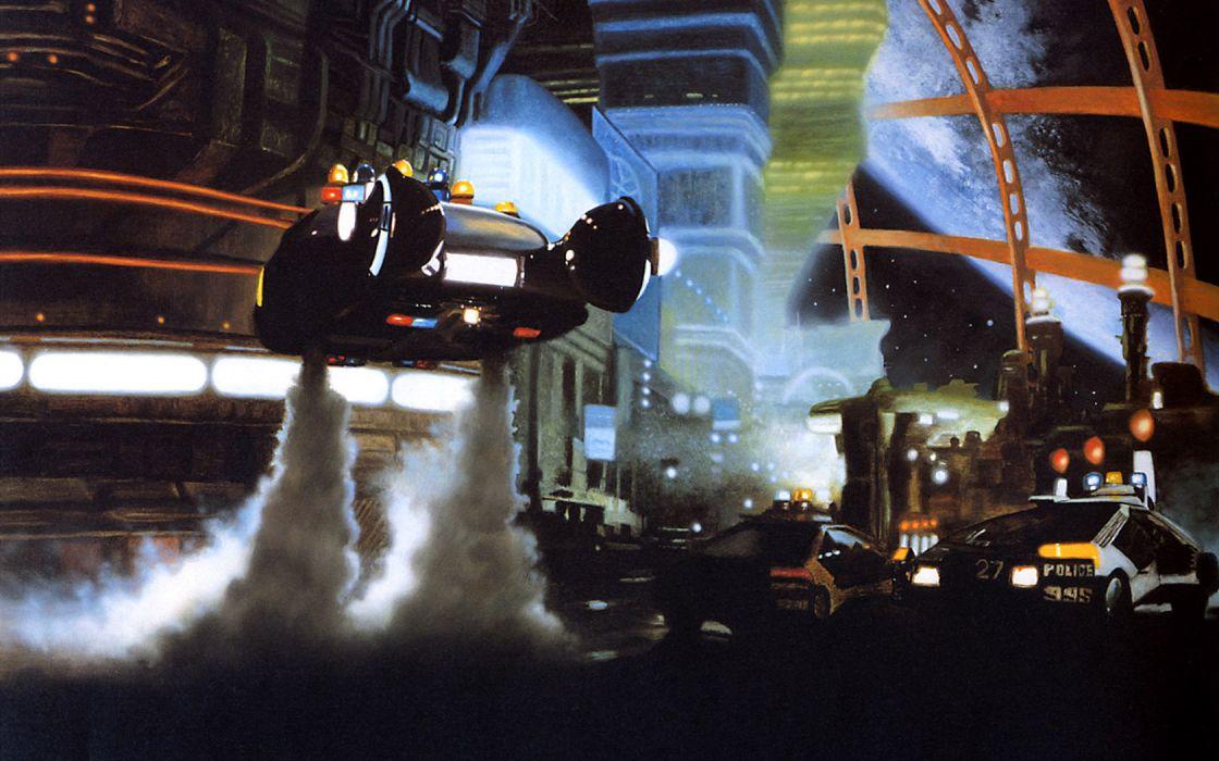 BLADE RUNNER drama sci-Fi thriller action spaceship city    d wallpaper