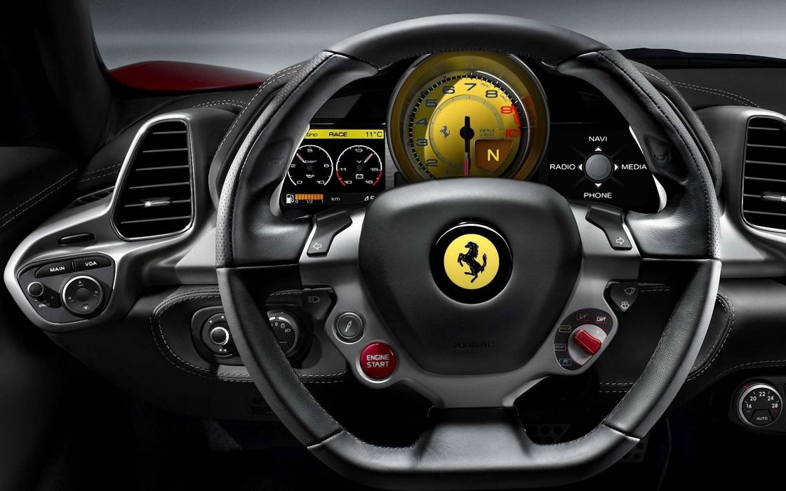 cars Ferrari dashboards car interiors wallpaper